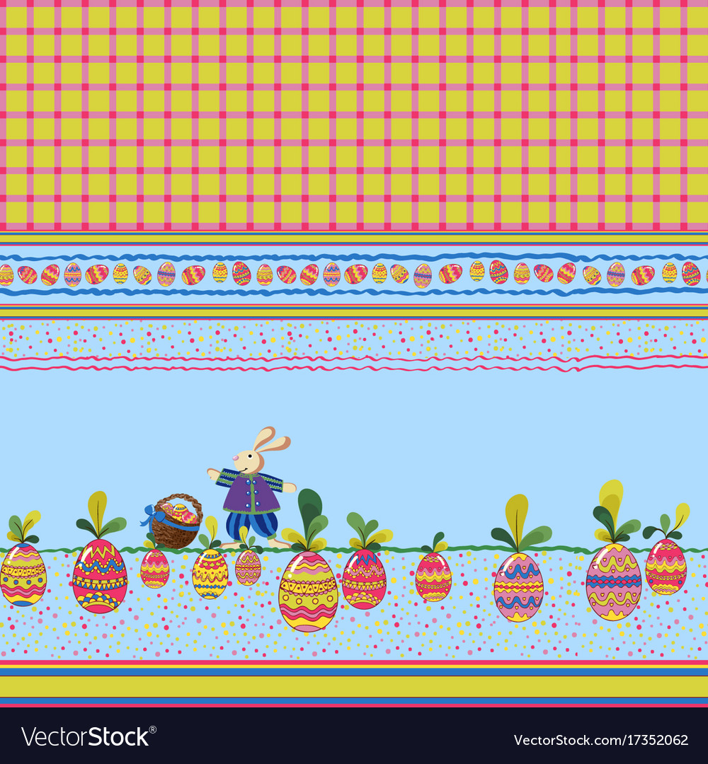 Easter print vector image