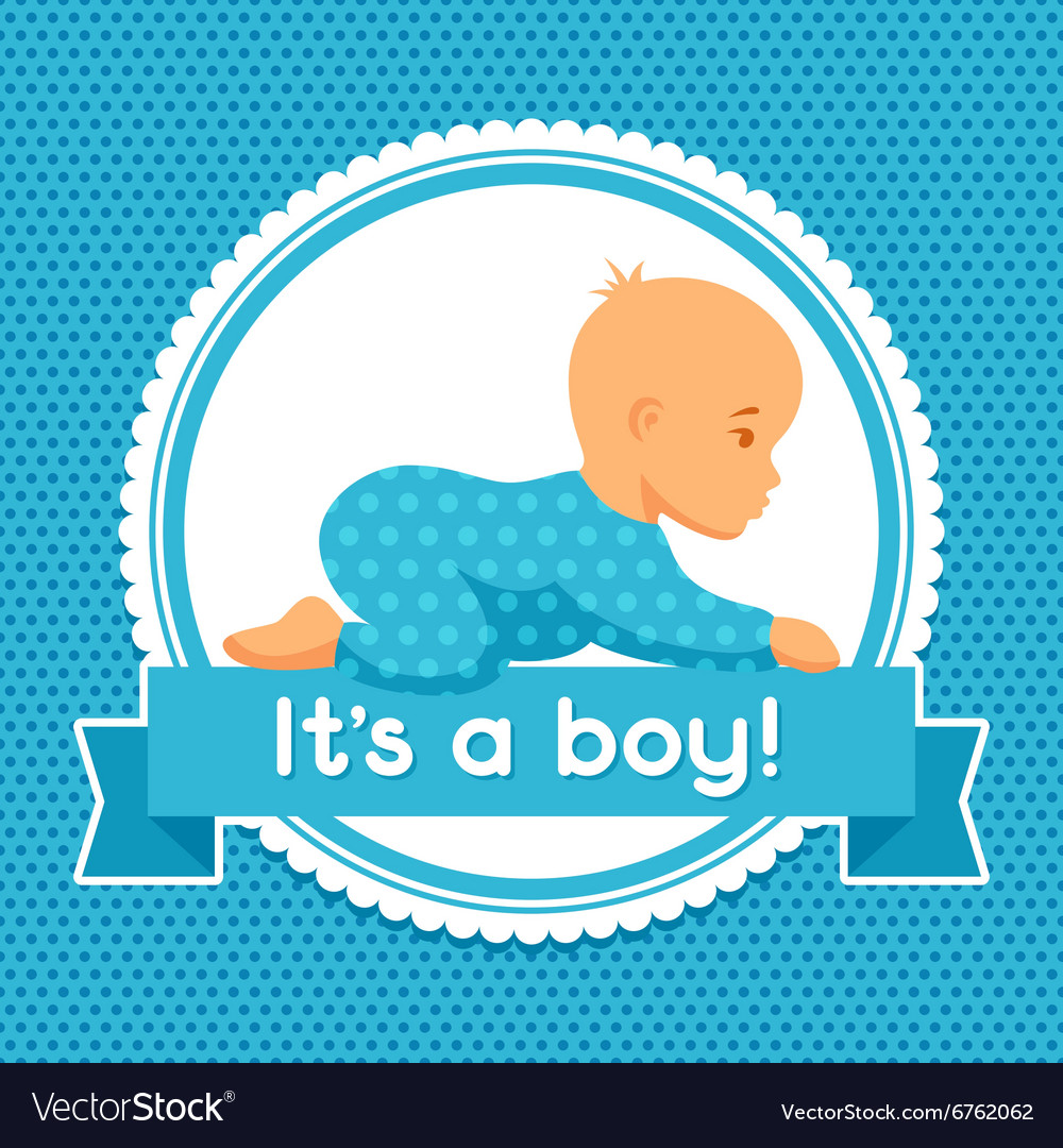 It Is A Boy Baby Shower Invitation Royalty Free Vector Image