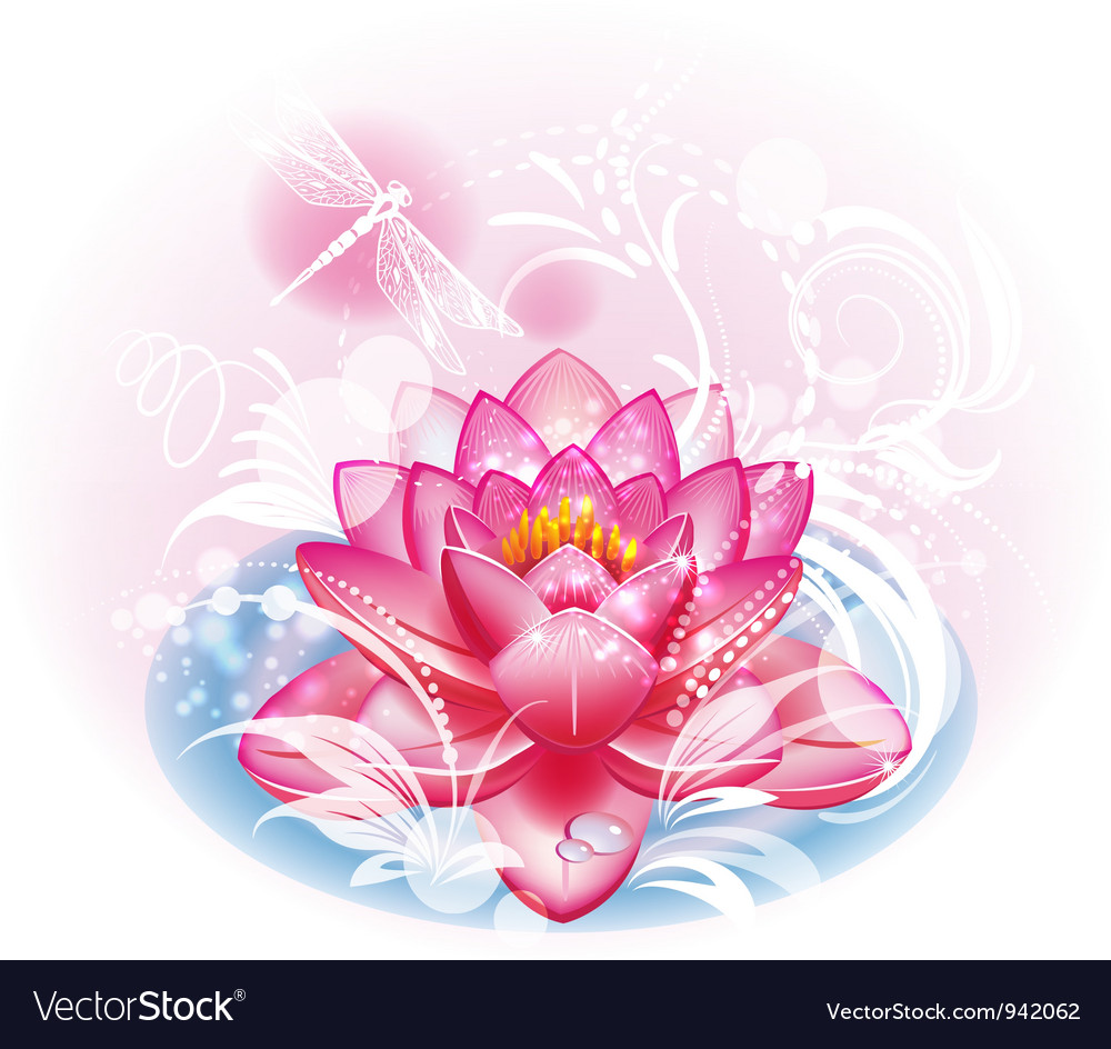 Lotus flower royalty free vector image vectorstock lotus flower vector image izmirmasajfo