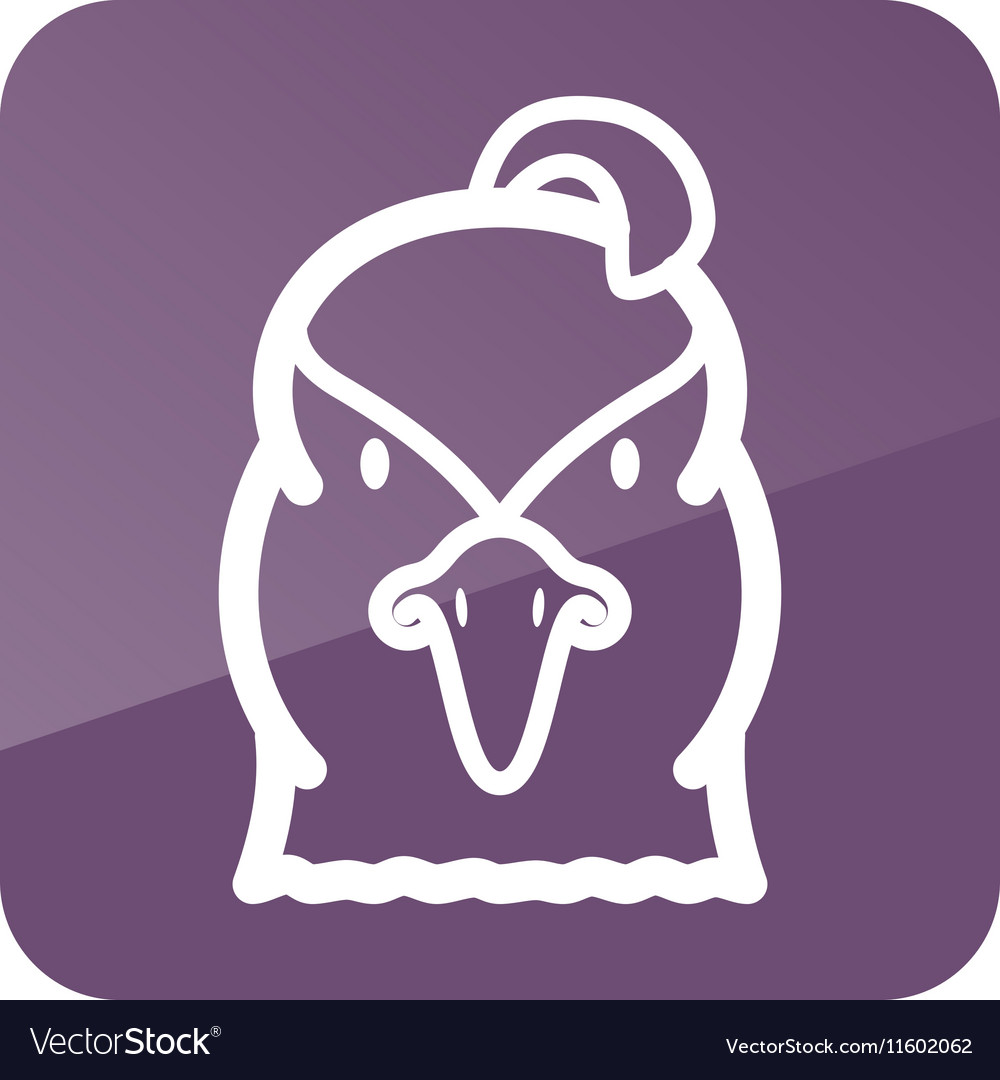 Quail icon Animal head symbol