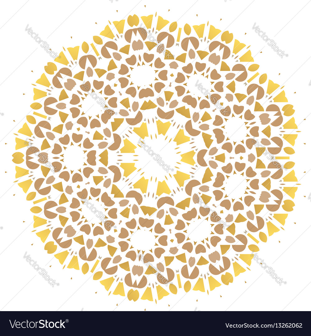 Stylized flowers mandala vector