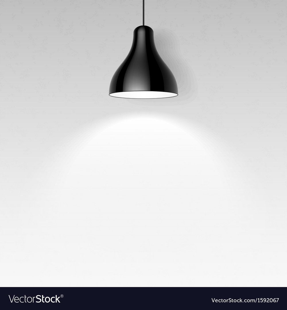Black Ceiling Lamp Royalty Free Vector Image