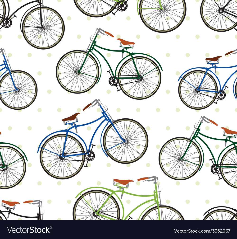 Hipster bike patern saren