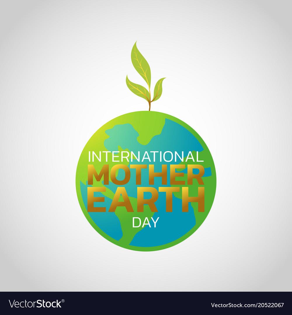 International mother earth day logo icon design