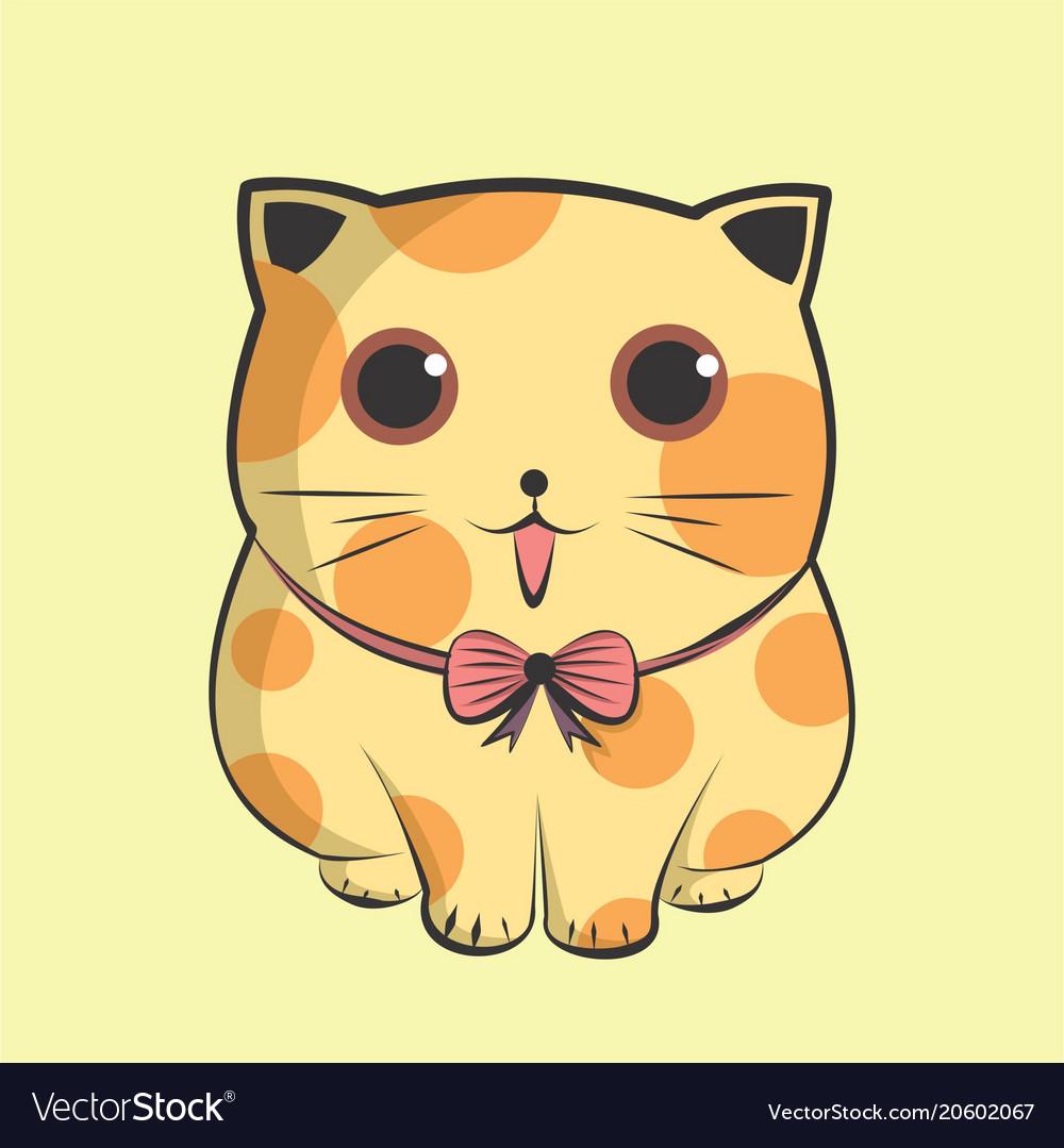 Lovely big kitten cute cat