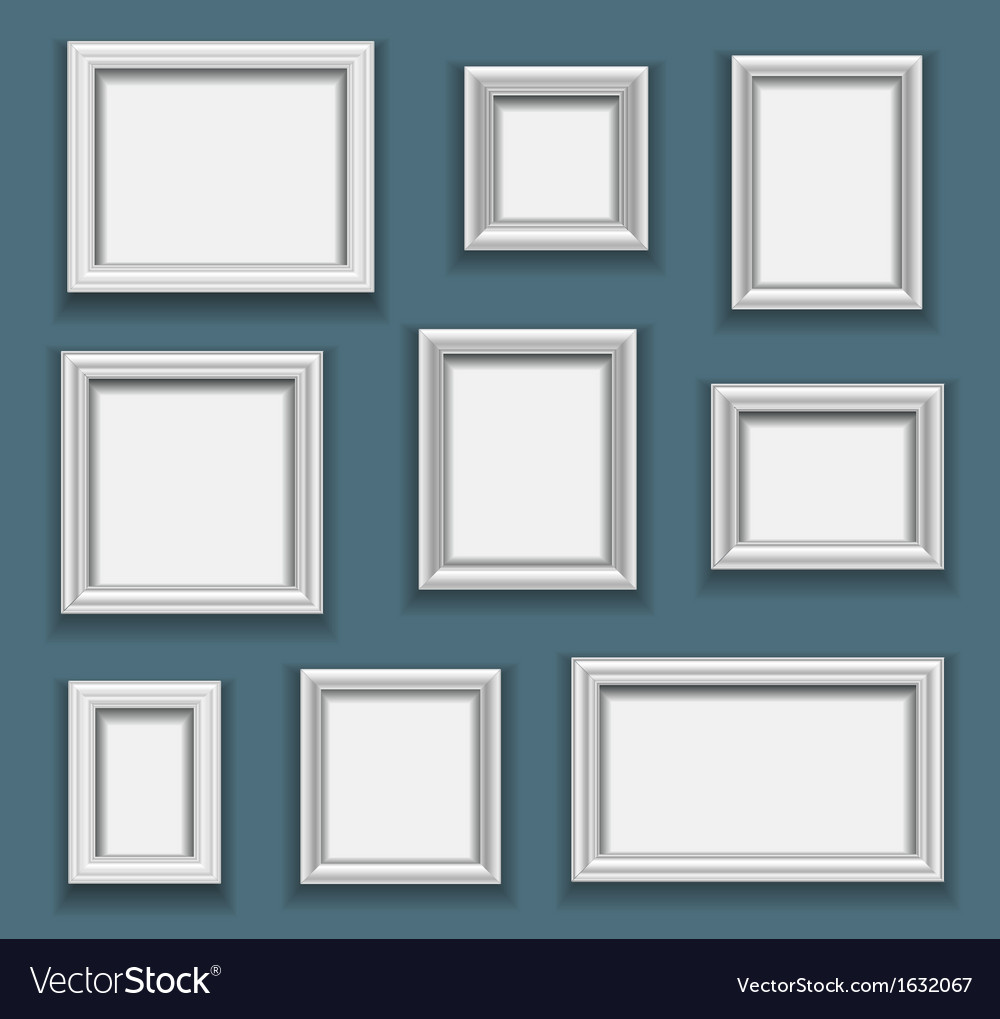 Picture frame set vector image