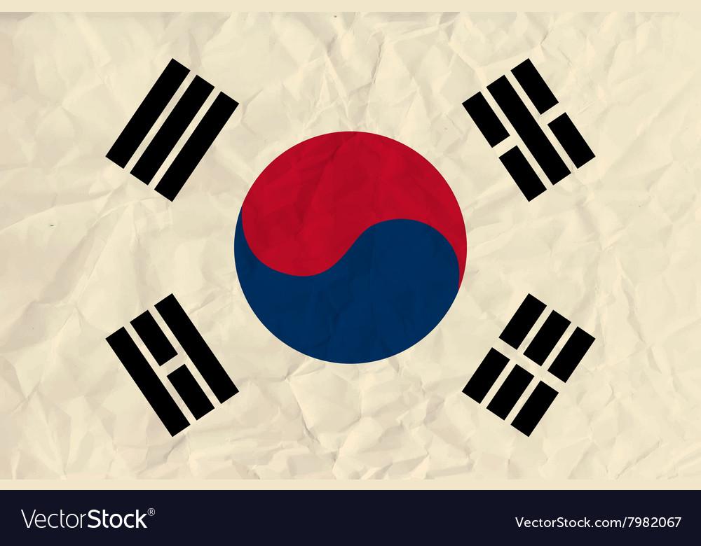 Republic korea paper flag