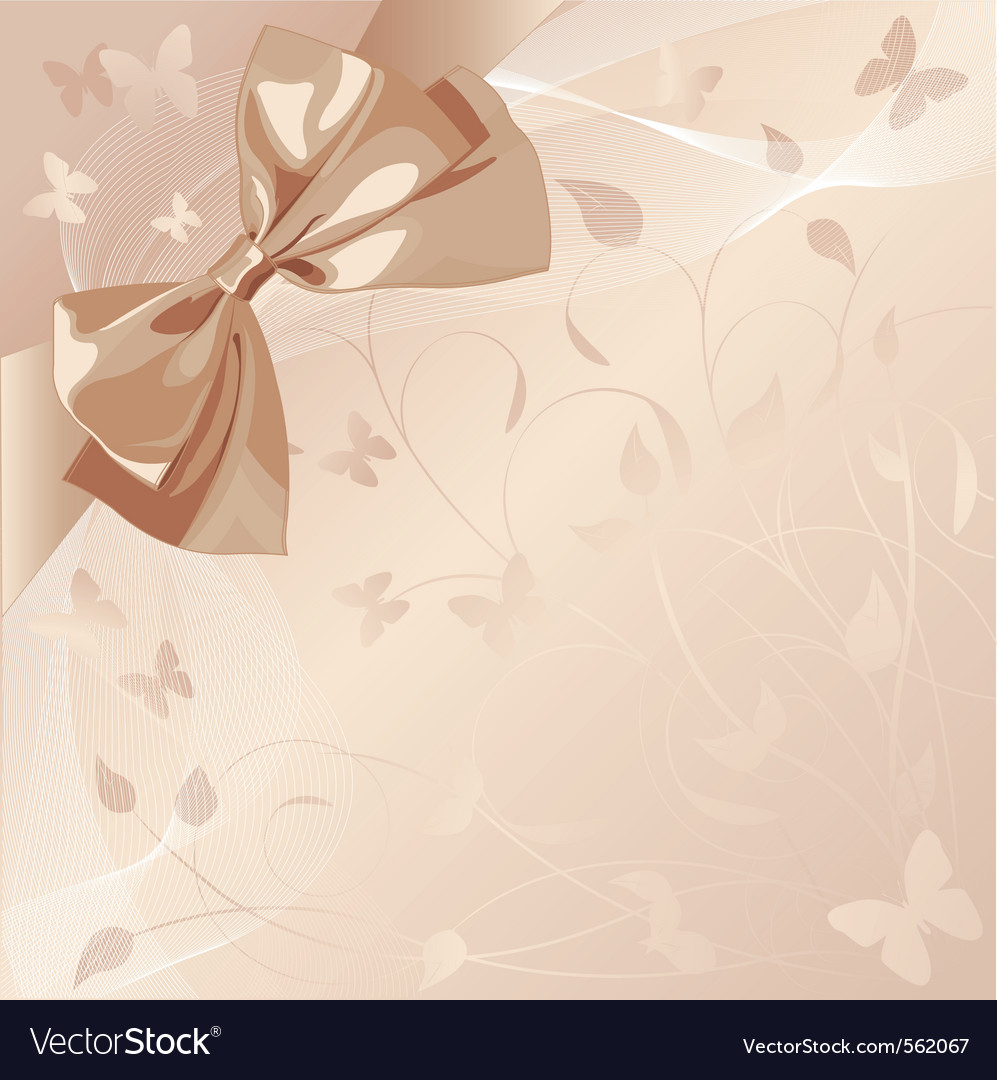 Romantic design with bow vector image