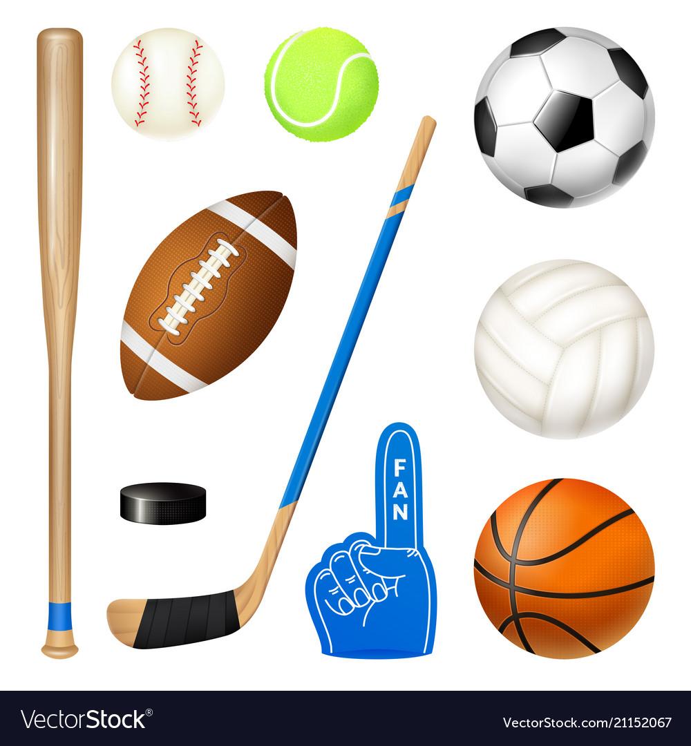 Sport inventory realistic set