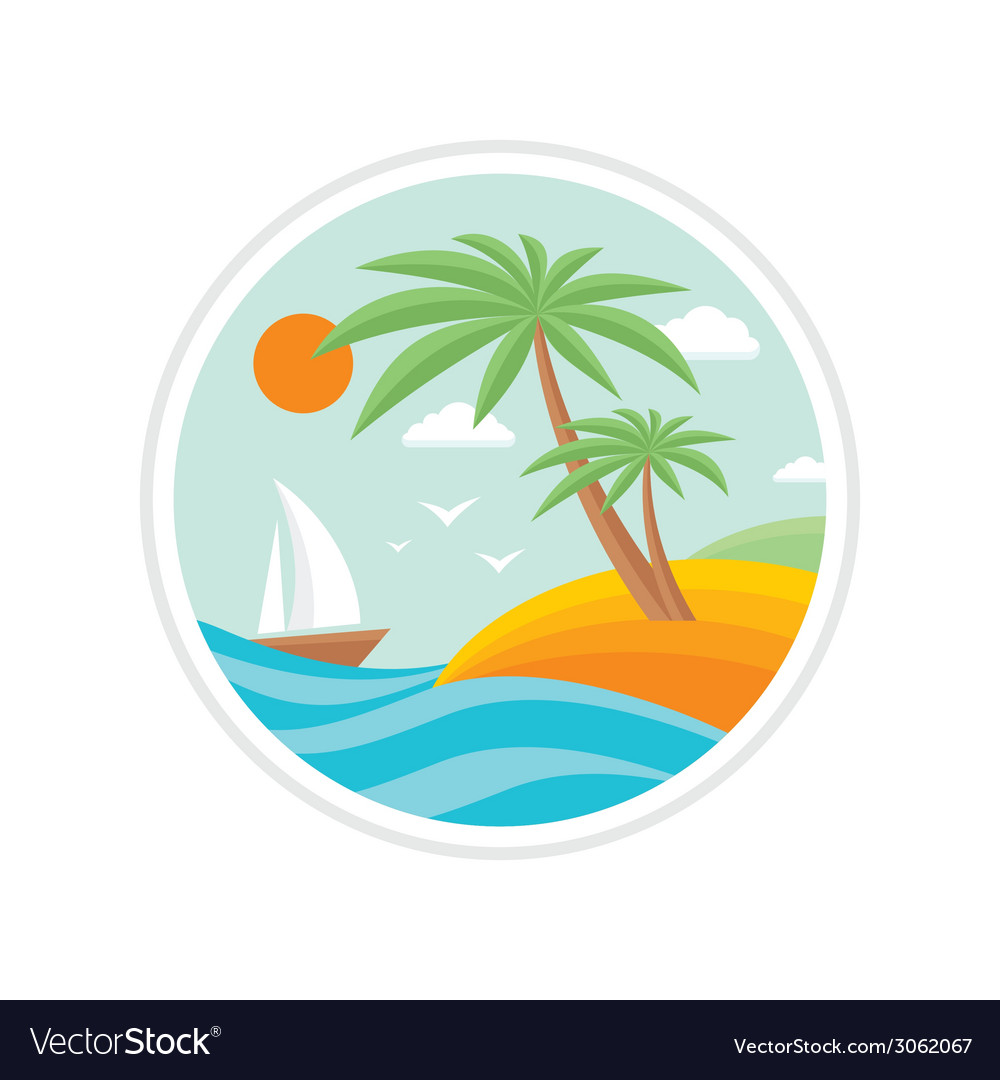 Summer holiday - travel logo