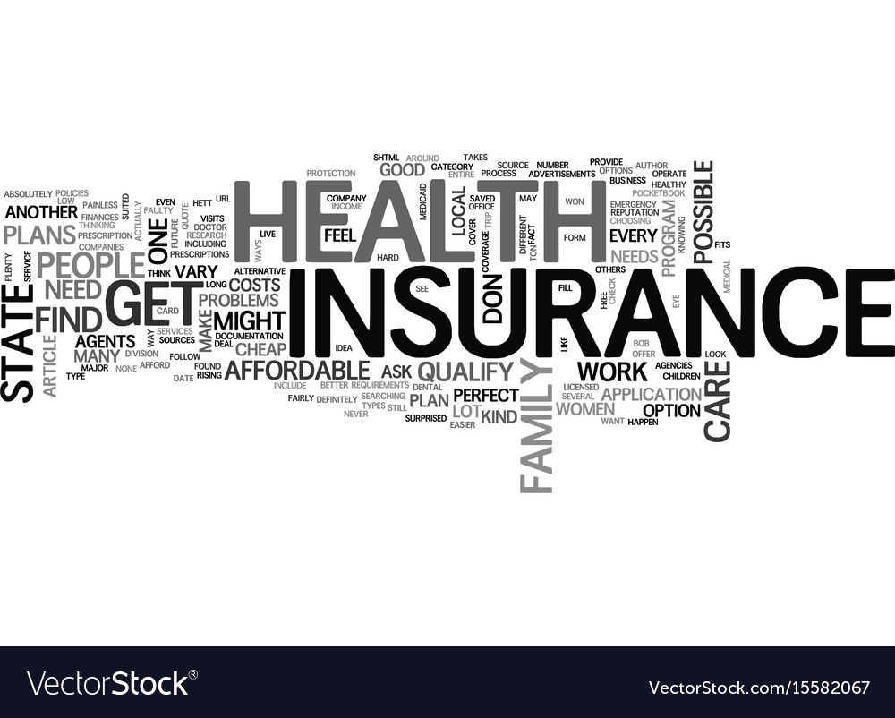 Cheap Health Insurance >> Where To Find Cheap Health Insurance Text Word