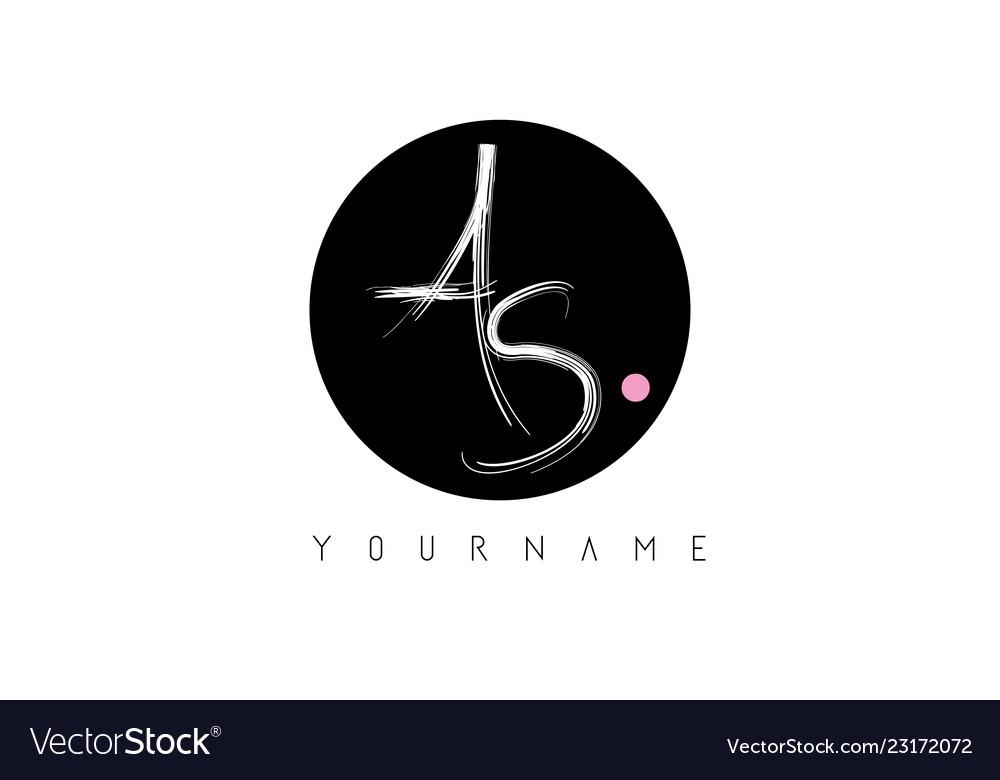 As handwritten brush letter logo design with