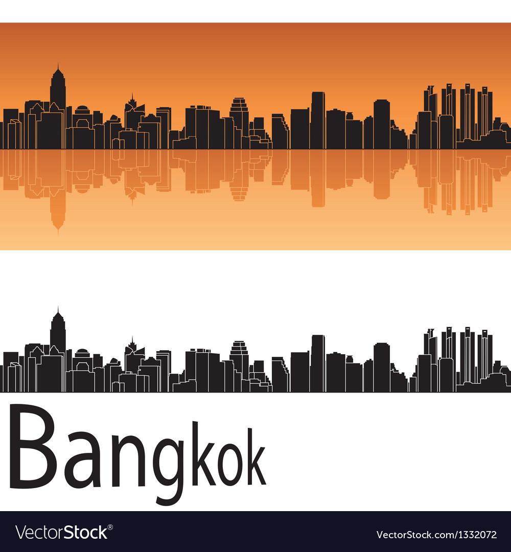 Bangkok skyline in orange background