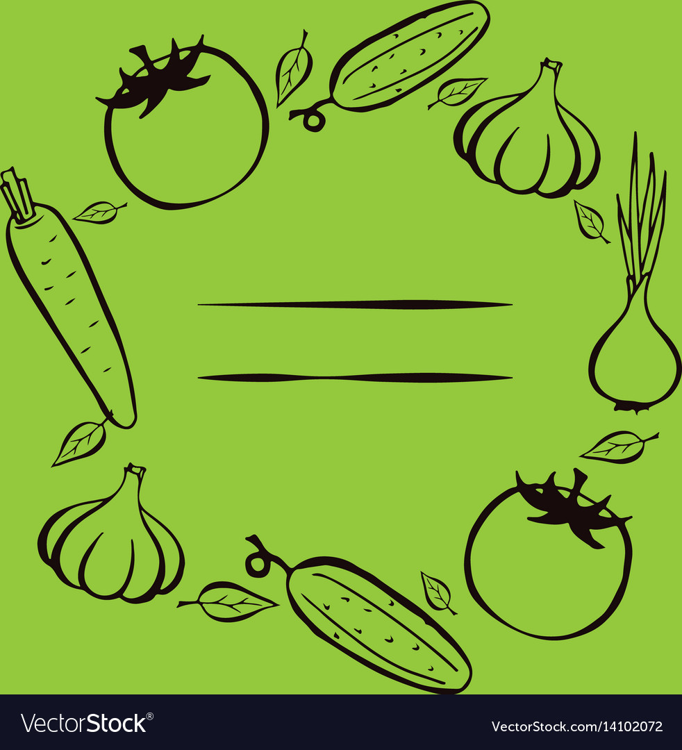 Farmers market frame for menu food design Vector Image