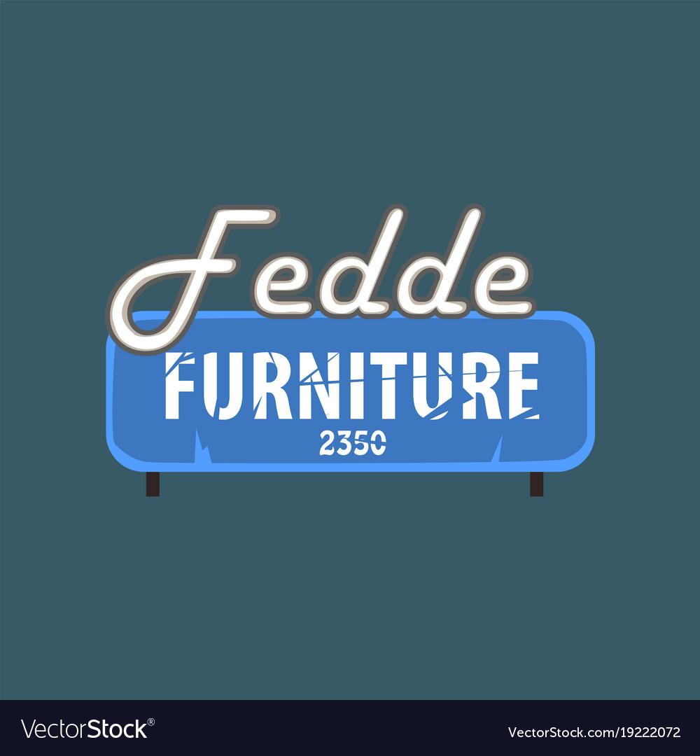 Fedde furniture retro street signboard vintage