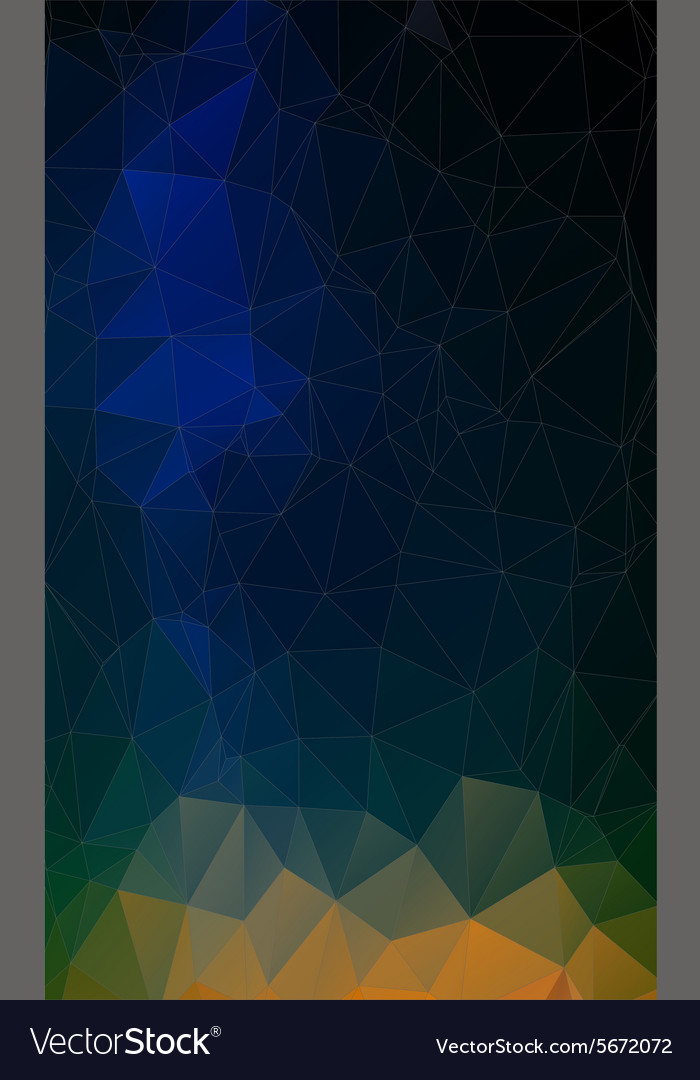 Flat triangle geometric colorful background vector image