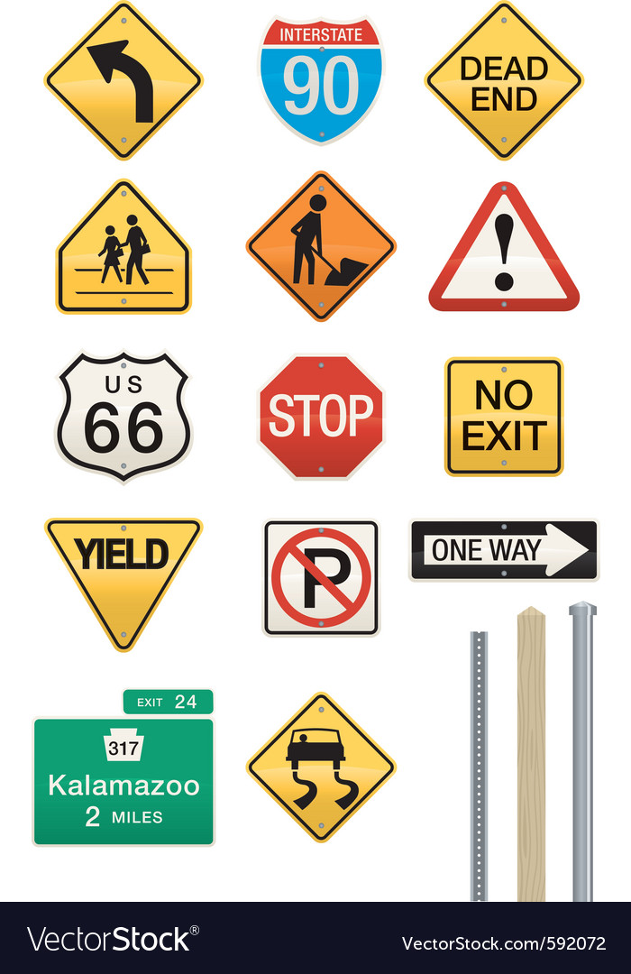 Highway signs vector image