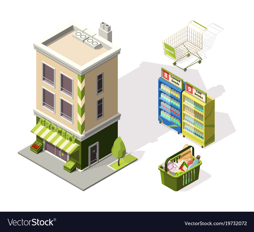 Isometric tools for supermarket 3d