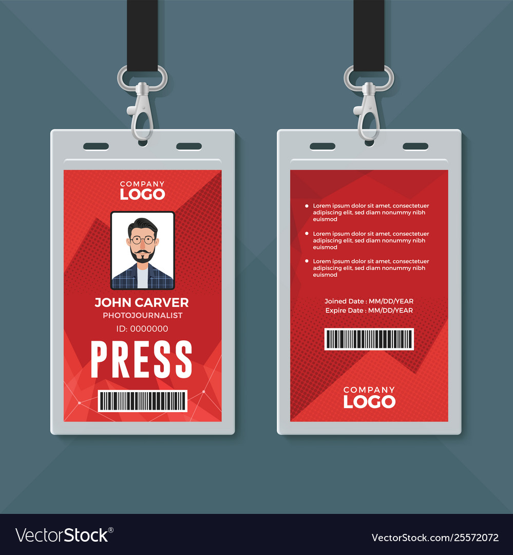 Id Card Design Template Free Download from cdn3.vectorstock.com
