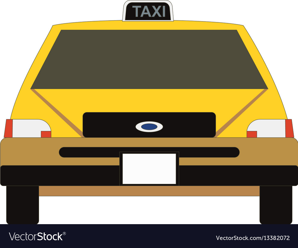 Taxi icon in flat style yellow car