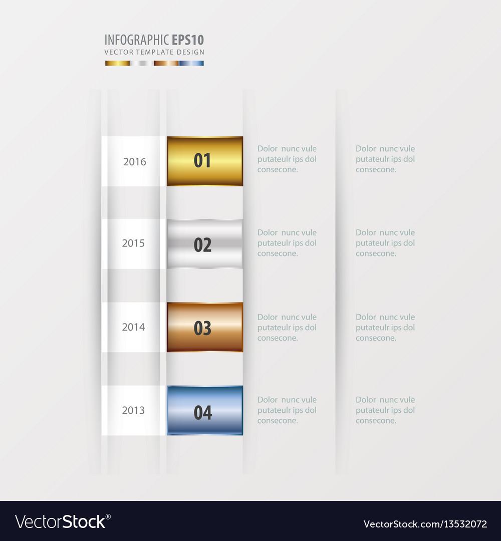 Timeline design design gold bronze silver blue