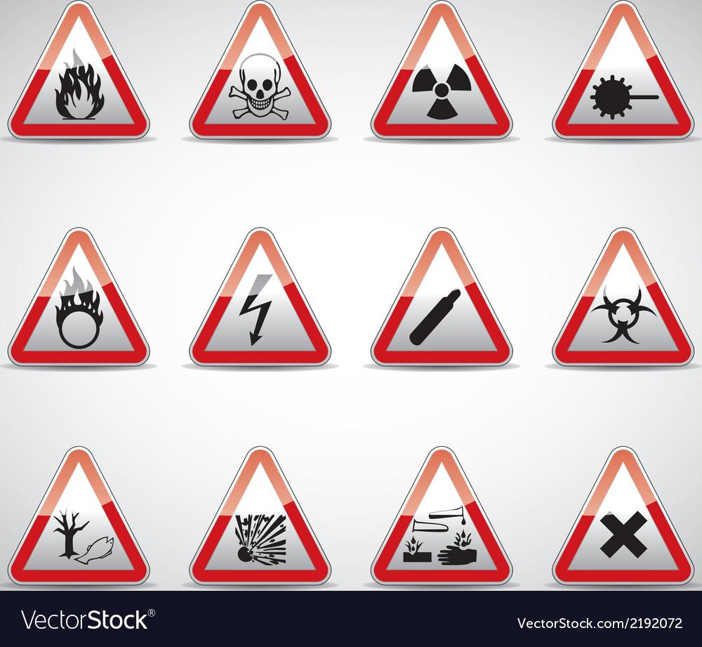 Triangel danger sign set