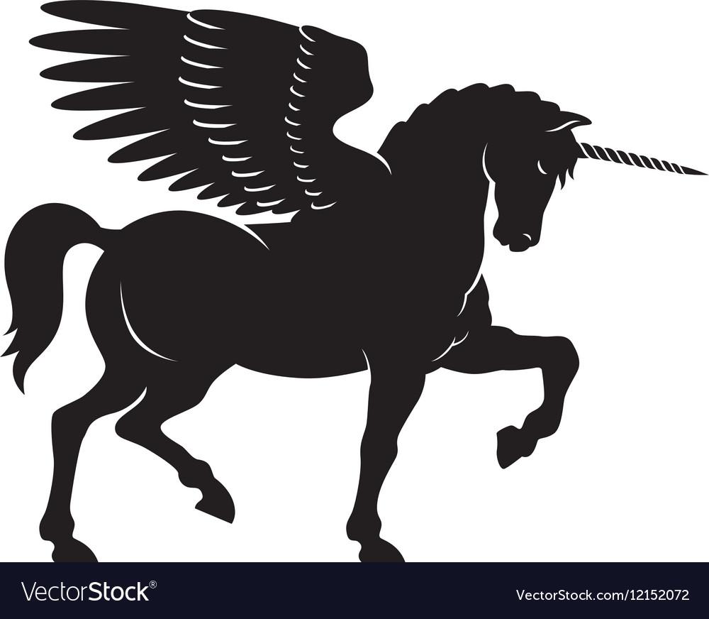 winged unicorn royalty free vector image vectorstock