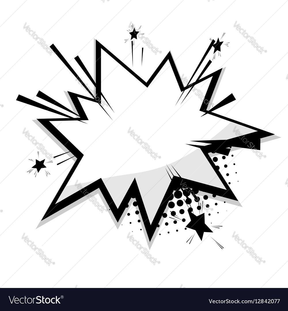 Blank template comic speech balloon star Vector Image
