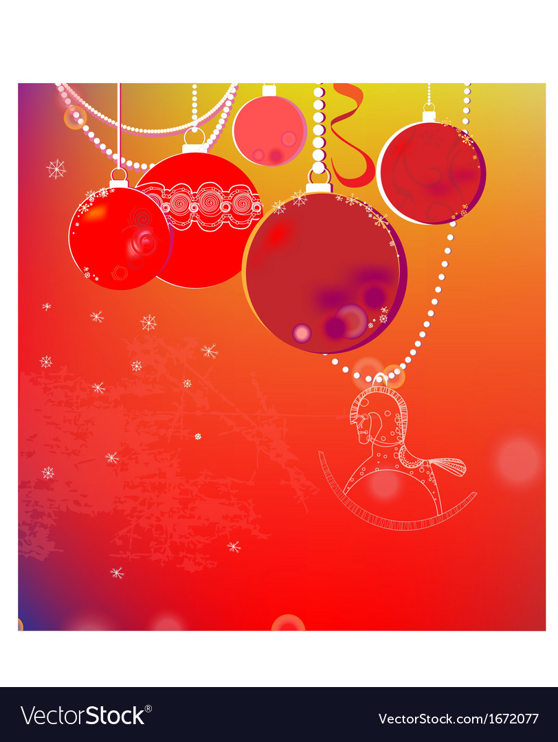 Colorful winter background with Christmas balls