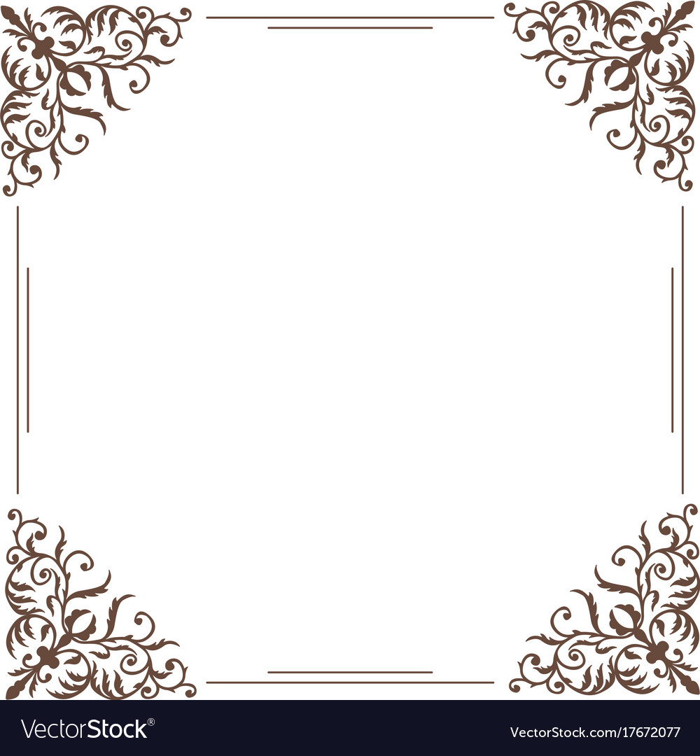decorative square frame vintage style royalty free vector
