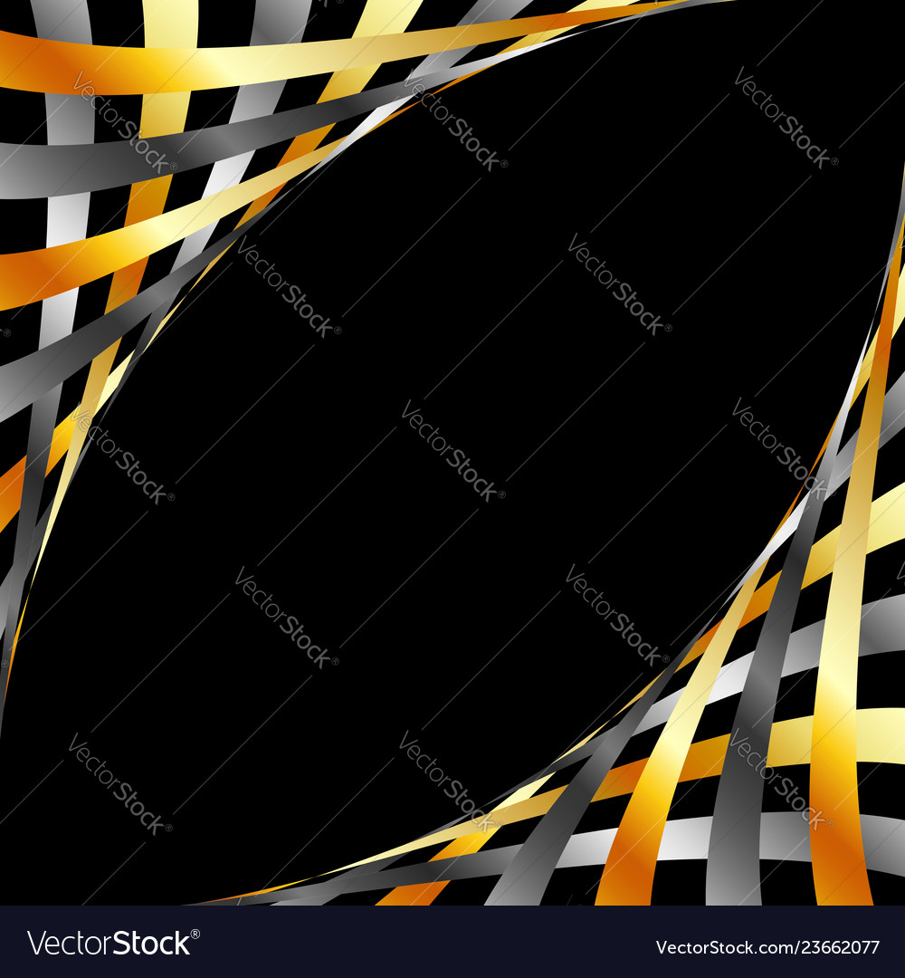 Glowing gold and silver web banner or frame
