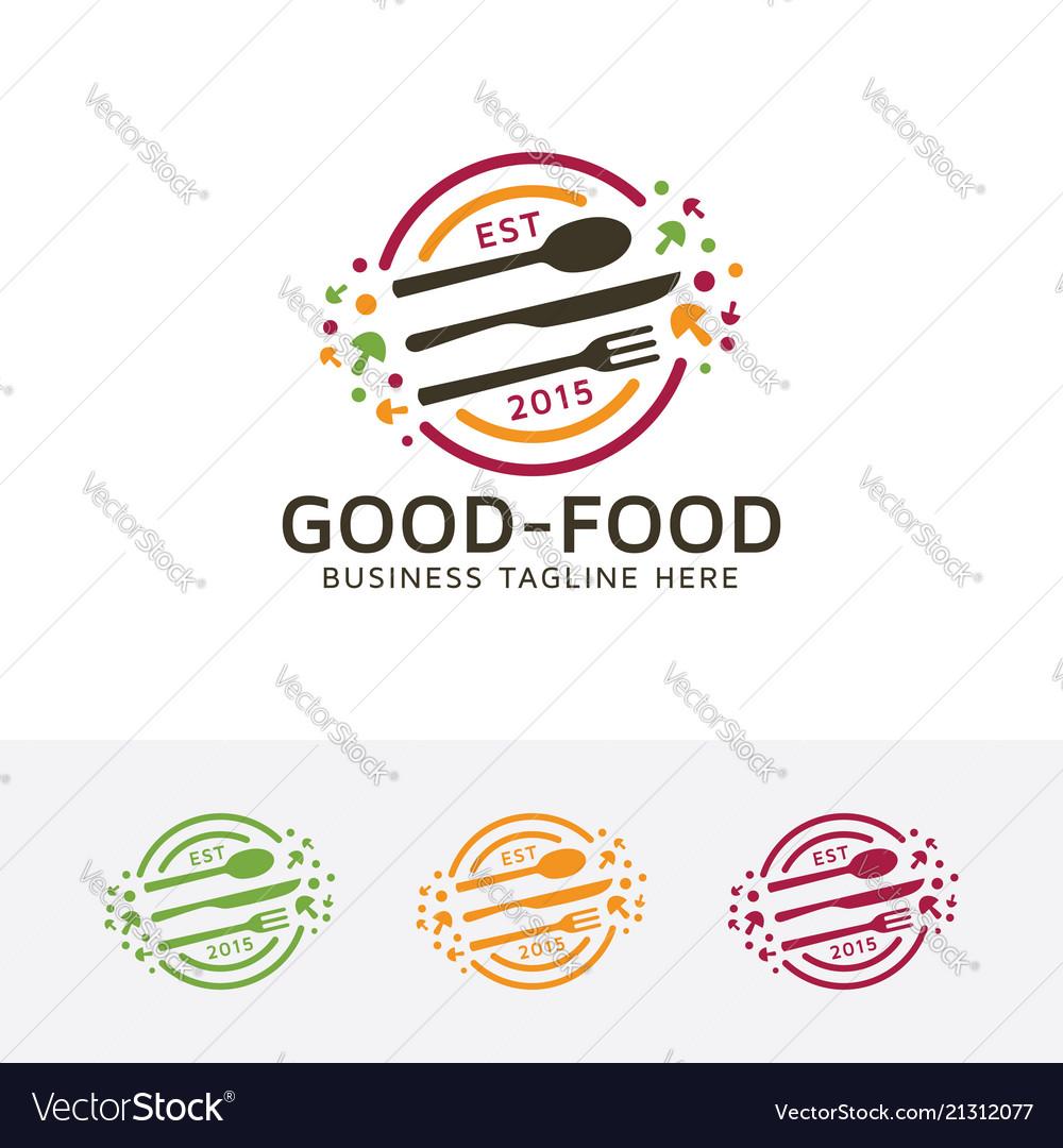 Good food logo design