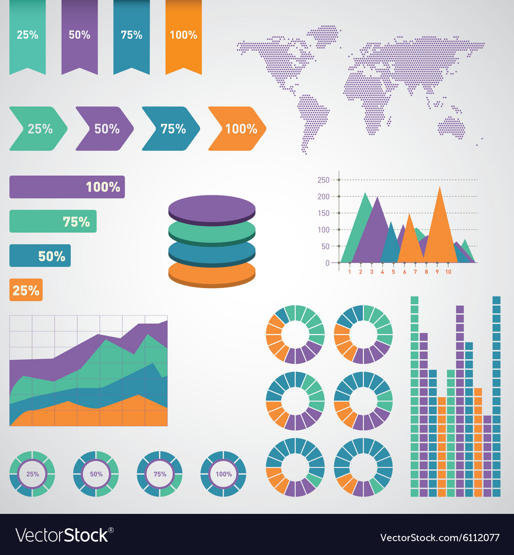 Infographics set World Map and Information
