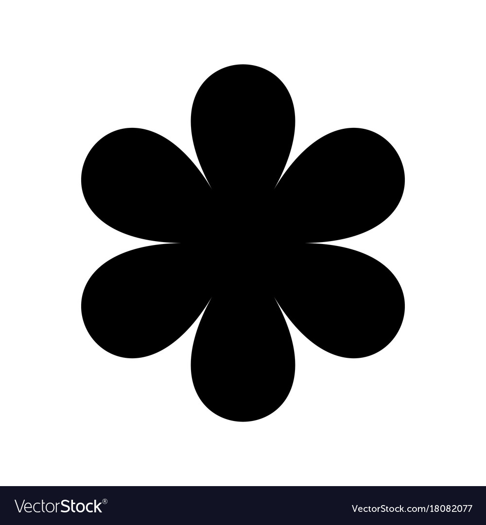 Black Flower Silhouette Stock Vector Illustration Of: Logo In The Form Of A Black Silhouette Of A Flower