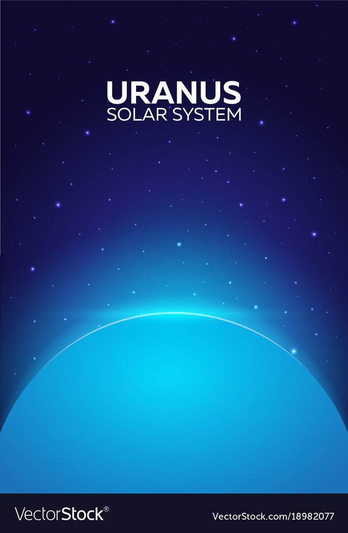 Poster planet uranus and solar system space