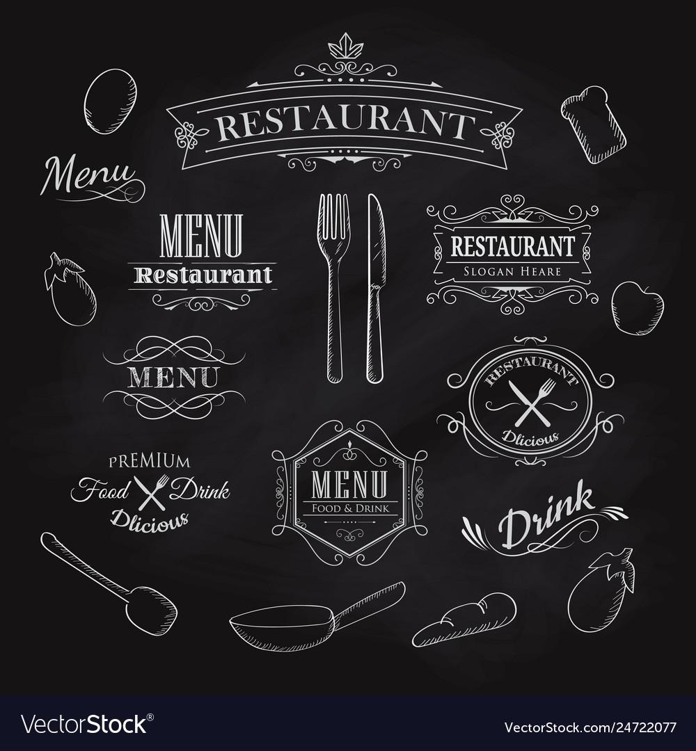 Typographical element for menu restaurant
