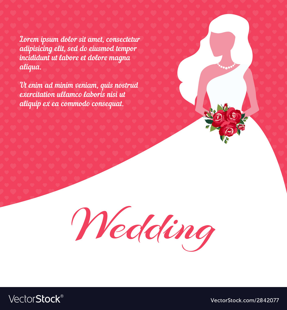 Wedding invitation or card template Royalty Free Vector