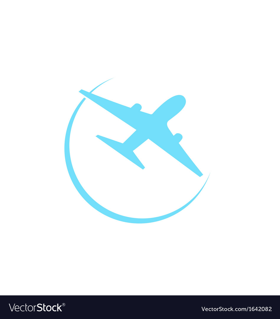 Airplane symbol isolated on white background vector image