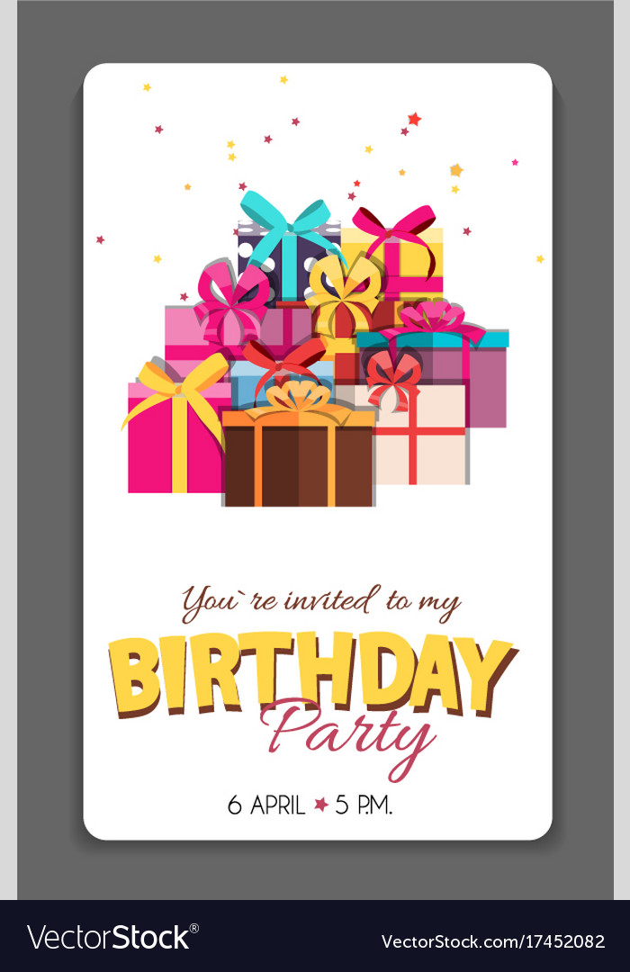 Birthday Party Invitation Card Template