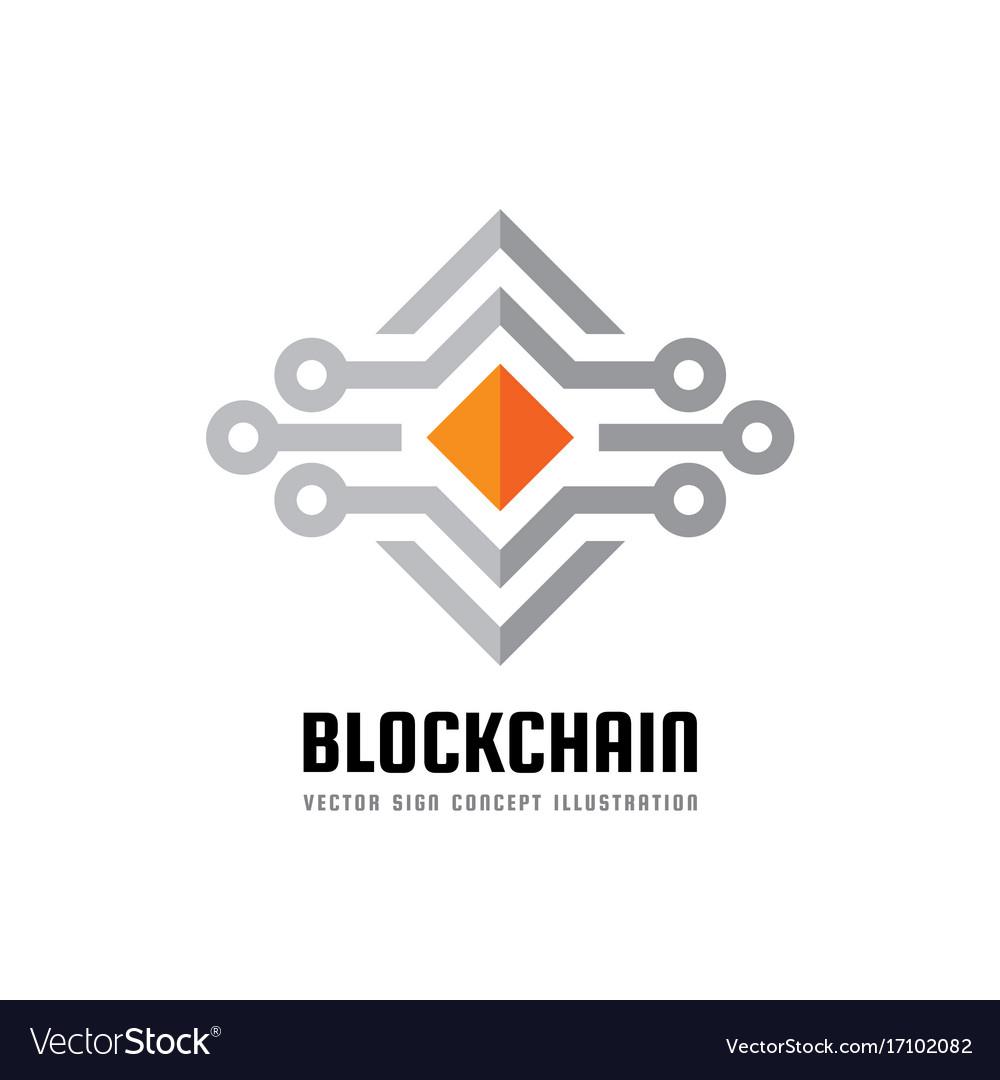 Blockchain Technology Logo Template
