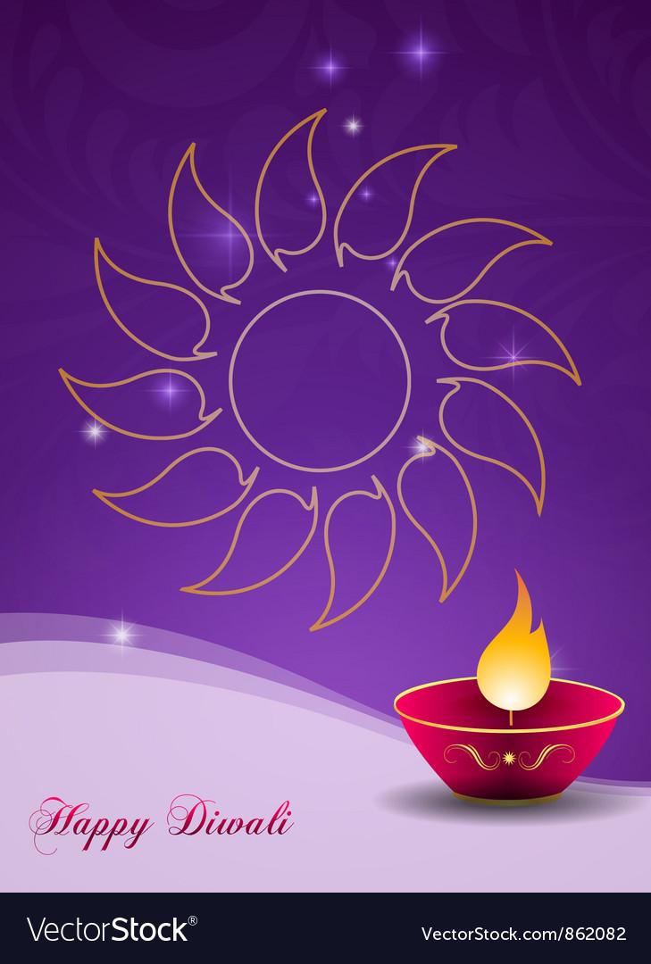 Diwali Greeting Card Royalty Free Vector Image