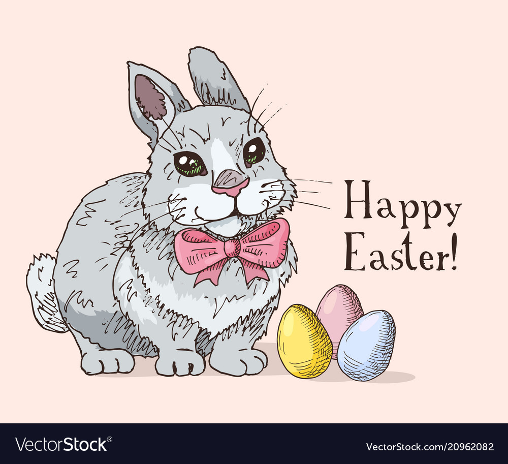 Hand drawn easter gift card