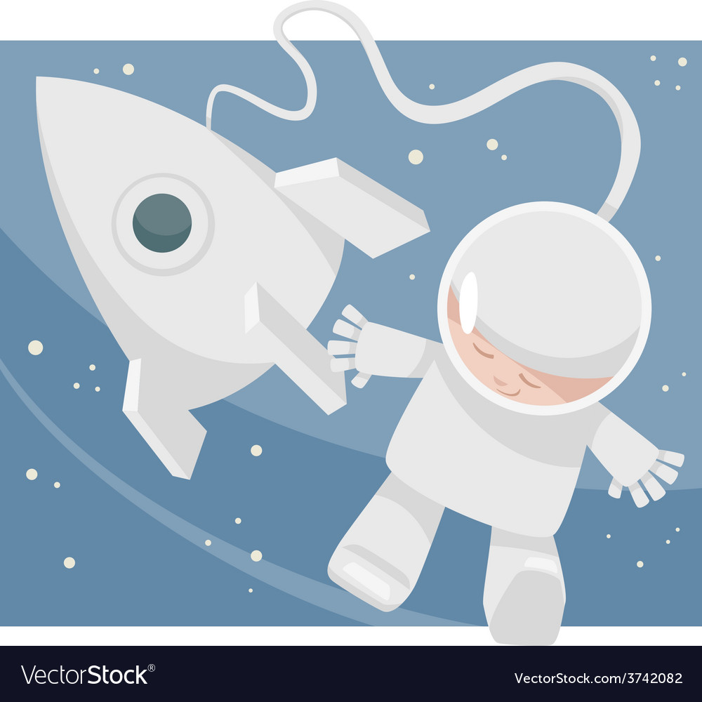 Little spaceman cartoon