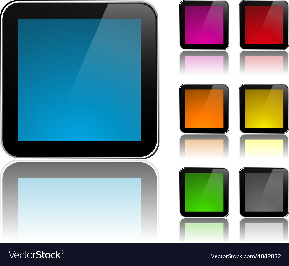 Modern square signs vector image