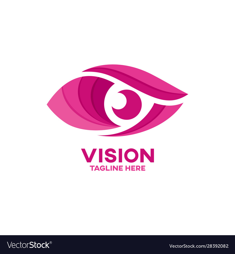 Modern vision and eye logo vector