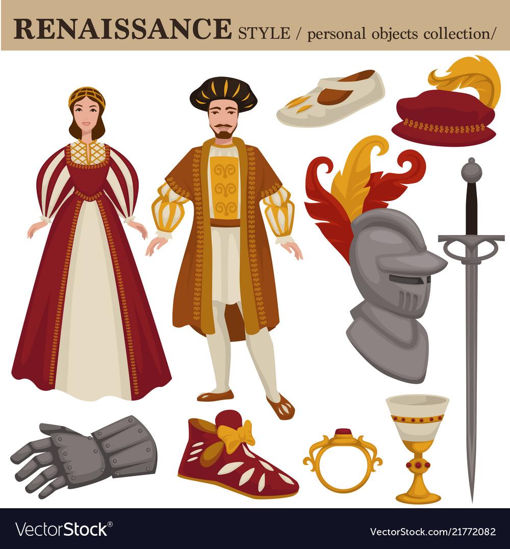 Renaissance century european old retro fashion