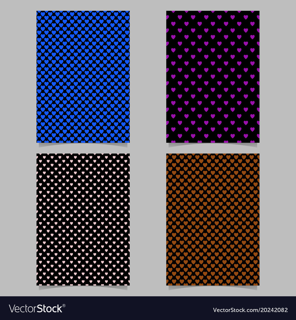 Repeating heart pattern brochure background