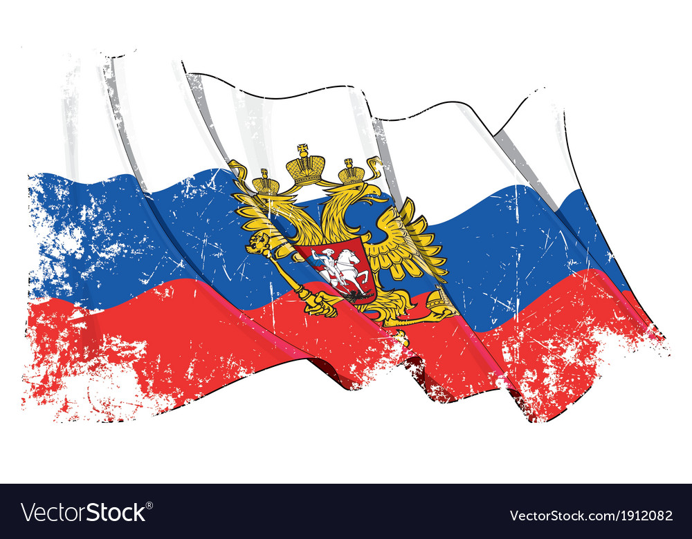 Russia state flag grunge