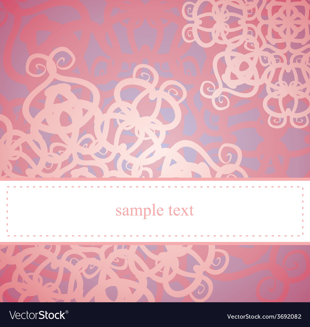 Sweet pink floral card or invitation