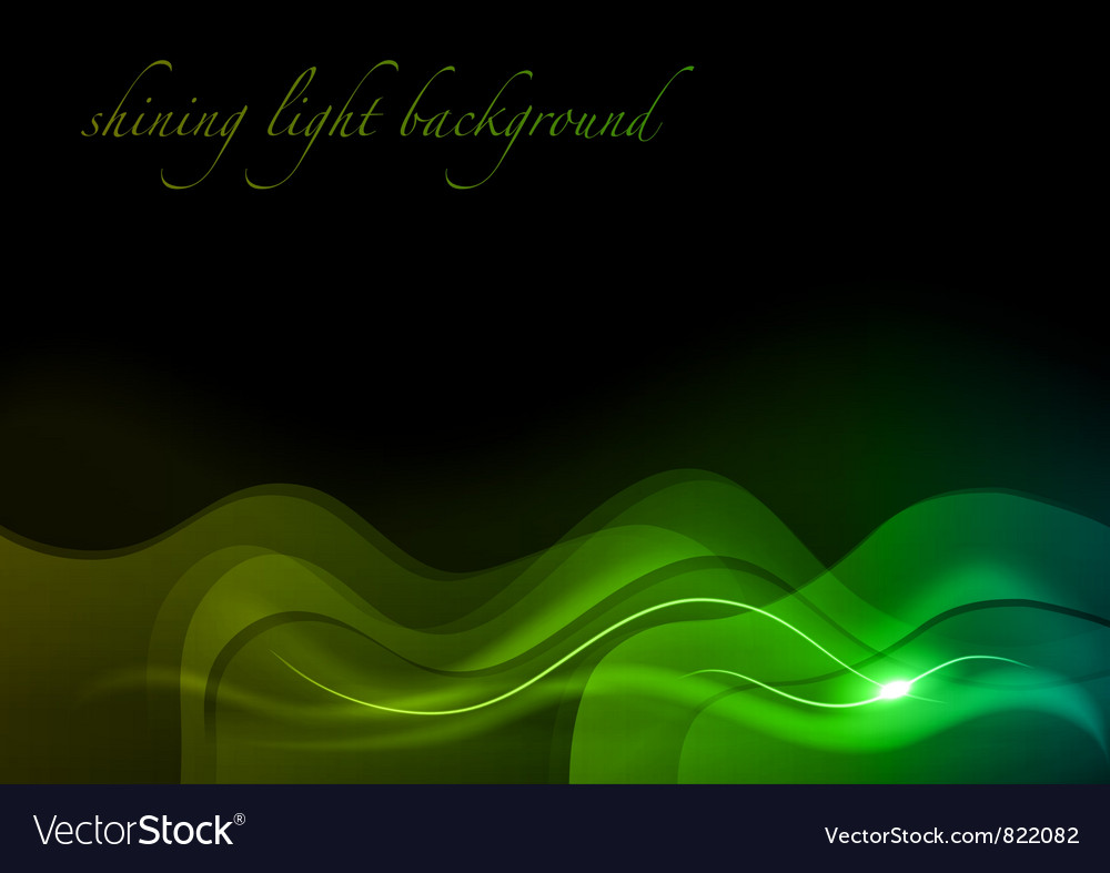 Wave neon light